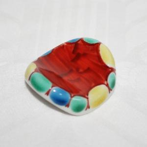 手描き 九谷焼 和洋食器 絵変り楕円形箸置|kutani-bitouen|04