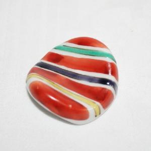 手描き 九谷焼 和洋食器 絵変り楕円形箸置|kutani-bitouen|06