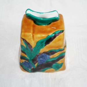 手描き 九谷焼 万年青文五寸方形花器|kutani-bitouen|04