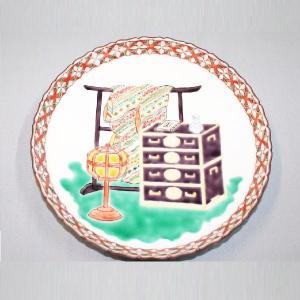 手書き 九谷焼 道具づくし八寸飾皿|kutani-bitouen