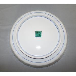 手書き 九谷焼 牡丹文八寸飾皿 (山岸 雄三)|kutani-bitouen|03