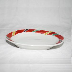 手描き 九谷焼 和洋食器 間道文六・五寸楕円皿|kutani-bitouen|02