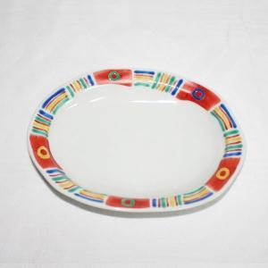 手描き 九谷焼 和洋食器 メキシカン文六・五寸楕円皿|kutani-bitouen