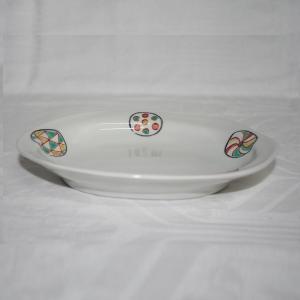手描き 九谷焼 和洋食器 丸紋様六・五寸楕円皿 kutani-bitouen 02