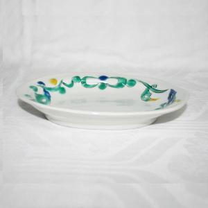 手描き 九谷焼 和洋食器 ペルシャ唐草文六・五寸楕円皿|kutani-bitouen|02