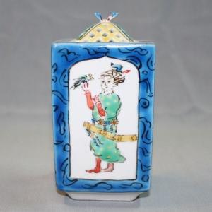手書き 九谷焼 胡人文角香炉|kutani-bitouen