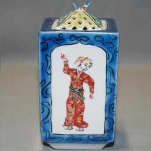 手書き 九谷焼 胡人文角香炉|kutani-bitouen|02