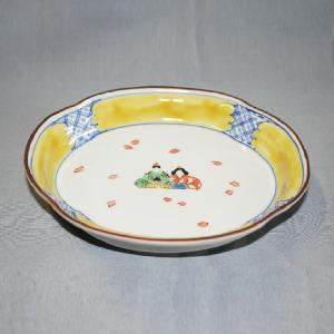 手描き 九谷焼 和洋食器 ひな文木瓜皿|kutani-bitouen|02