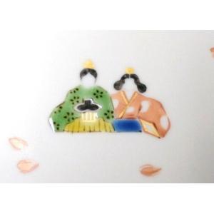 手描き 九谷焼 和洋食器 ひな文木瓜皿|kutani-bitouen|04