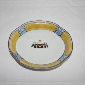手描き 九谷焼 和洋食器 お鏡文木瓜皿|kutani-bitouen