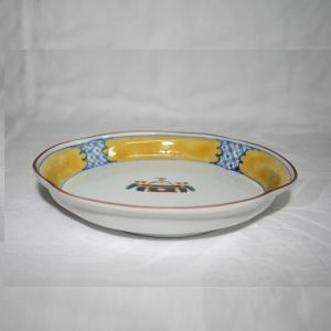 手描き 九谷焼 和洋食器 お鏡文木瓜皿|kutani-bitouen|02