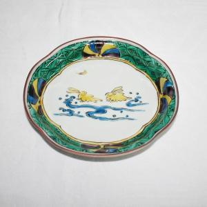 手描き 九谷焼 和洋食器 兎文木瓜皿 kutani-bitouen