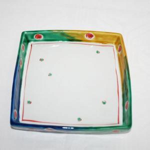 手描き 九谷焼 和洋食器 ビー玉文足付六寸皿|kutani-bitouen|03