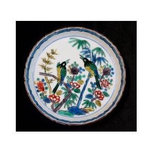 手書き 九谷焼 はは鳥四寸輪花飾皿|kutani-bitouen