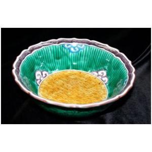 手書き 九谷焼 和食器 青海波文様七・五寸鉢|kutani-bitouen