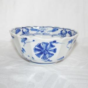 手描き 九谷焼 和洋食器 染付花車六寸鉢|kutani-bitouen