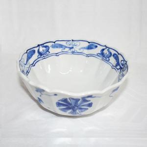 手描き 九谷焼 和洋食器 染付花車六寸鉢|kutani-bitouen|02