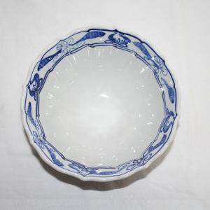手描き 九谷焼 和洋食器 染付花車六寸鉢|kutani-bitouen|04