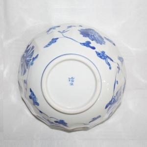 手描き 九谷焼 和洋食器 染付花車六寸鉢|kutani-bitouen|05