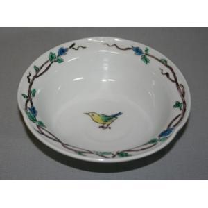 手描き 九谷焼 和洋食器  鳥文様五寸鉢|kutani-bitouen