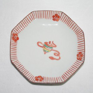 手描き 九谷焼 和洋食器 こま文様四寸皿|kutani-bitouen