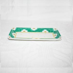 手描き 九谷焼 和洋食器 白梅文八寸細長皿|kutani-bitouen