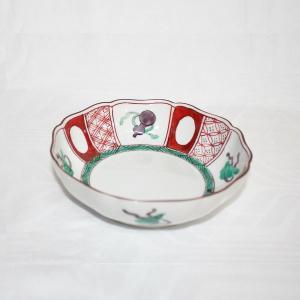 手描き 九谷焼 和食器 赤絵宝文様五寸鉢|kutani-bitouen