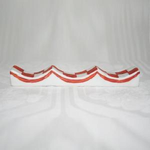 九谷焼 手描き 和洋食器 市松文様(赤)フォーク&ナイフ レスト|kutani-bitouen|03