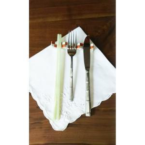 九谷焼 手描き 和洋食器 市松文様(赤)フォーク&ナイフ レスト|kutani-bitouen|05