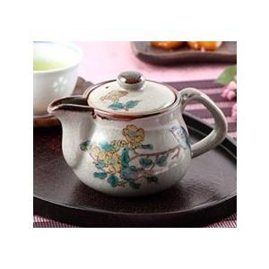 急須 きゅうす 一人用 日本製 おしゃれ 花鳥柄 洗いやすい 注ぎやすい 九谷焼 急須 茶器 ティーポット 小 金糸梅(キンシバイ)に鳥 裏絵|kutanihyakkaen