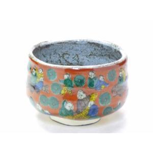 自宅で気軽に抹茶碗 和食器 九谷焼 おしゃれ 唐子 手描き 茶の湯 茶碗  ギフト包装 九谷焼 抹茶碗 木米(モクベイ)写し|kutanihyakkaen