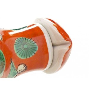 九谷焼 液だれしにくい 蓋ロック機能 磁器 手描き 唐子 ハート おしゃれ 九谷焼 醤油差し 木米(モクベイ)写し|kutanihyakkaen|03