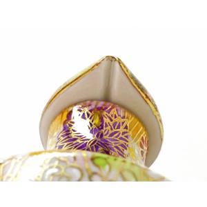 九谷焼 液だれしにくい 蓋ロック機能 磁器 手描き 豪華 ハート おしゃれ 九谷焼 醤油差し 加賀のお殿様・お姫様キブン(金花詰)|kutanihyakkaen|04