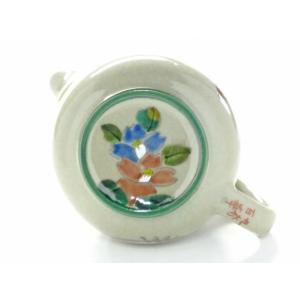 急須 きゅうす 二人用 手描き 花柄 手描き 洗いやすい 日本製 おしゃれ 九谷焼 急須 茶器 ティーポット 大 コンビ山茶花 裏絵|kutanihyakkaen|04