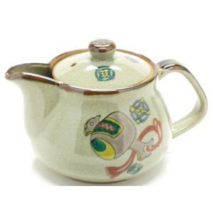 急須 きゅうす ご贈答 一人用 日本製 おしゃれ 洗いやすい 九谷焼 茶器 急須 ティーポット 小 宝尽くし 裏絵|kutanihyakkaen