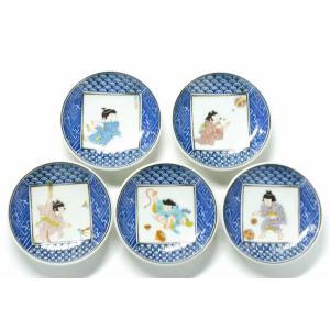 小皿揃え 九谷焼『3.3寸丸皿』わらべ絵変り|kutanihyakkaen