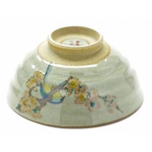 飯碗 お茶碗 和食器 日本製 かわいい おしゃれ ギフト 内祝 御礼 九谷焼 飯碗 大 梅に鳥|kutanihyakkaen