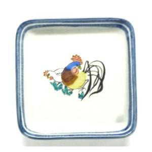ギフト 九谷焼 干支皿 小皿 飾り皿 酉(とり) kutanihyakkaen