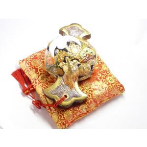 九谷焼 縁起物 置物 打ち出の小槌 10号 デコ盛|kutanihyakkaen