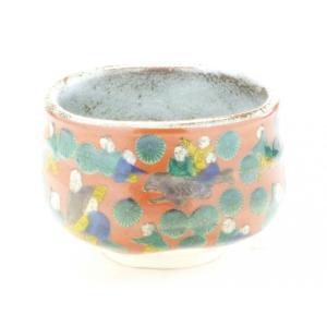 自宅で気軽に抹茶碗 和食器 九谷焼 おしゃれ 唐子 手描き 茶の湯 茶碗  ギフト包装 九谷焼 抹茶碗 木米(モクベイ)写し 下塗り無し|kutanihyakkaen