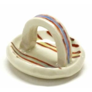 ギフト 九谷焼 箸置き 箸休め おしゃれ 卓上小物 日本製 和食器 ギフト 手作り 手描き 線紋|kutanihyakkaen