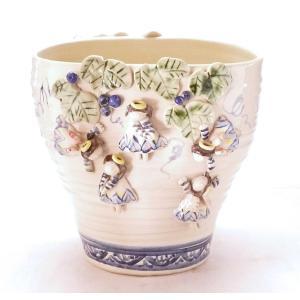 ギフト 九谷焼 花器 花瓶 インテリア 置物 天使のプランター  kutanihyakkaen