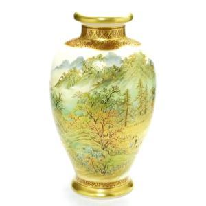 ギフト 九谷焼 花瓶 インテリア 本金 秋の図 kutanihyakkaen