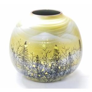 ギフト 九谷焼 花瓶 インテリア 木立連山 kutanihyakkaen