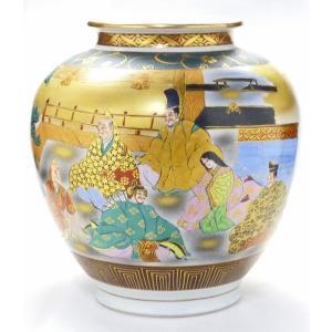 ギフト 九谷焼 花瓶 インテリア 本金 六歌仙 kutanihyakkaen