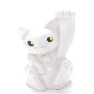 ギフト 九谷焼 招き猫 ホワイト 縁起物 幸運 千客万来 玄関飾り 店飾り 会社贈答 豪華 手描き 4号 kutanihyakkaen