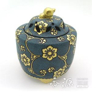 九谷焼 3.5号香炉 青粒 仲田錦玉先生作|kutaniyaki