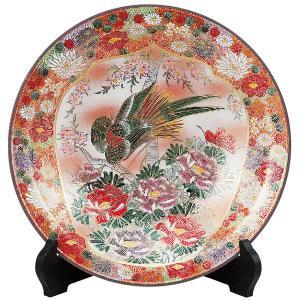 九谷焼10号飾皿 割取花詰 皿立付|kutaniyaki