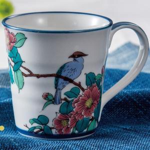 九谷焼マグカップ 花鳥|kutaniyaki