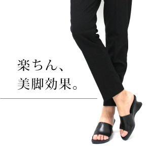 オフィス サンダル レディース 黒 美脚 日本製 本革|kutsu-nishimura|02